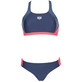 arena Ren Traje de Baño Dos Piezas Mujer, navy/shark/fluo red